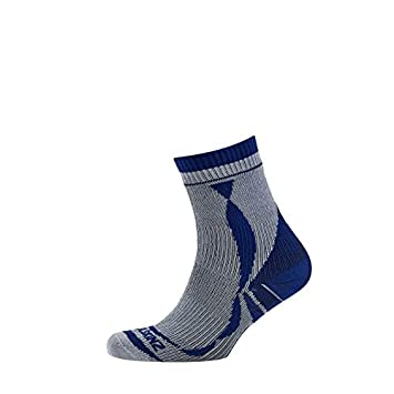 SealSkinz Socken Thin Ankle Length - Calcetines para hombre, color Gris (Gris/Azul