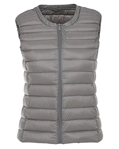 Vest Gilet Down Jacket Ultra Grey Women's Packable Coat ZhuiKun Puffer Light Weight aYq6UWw