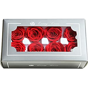 Yooha Artificial Rose, Romantic Rose Head Soap Artificial Flower in Gift Box for Valentines Day Anniversary 40