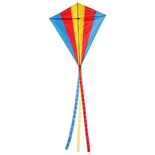 Triangle Rhombus Flying Kite Multicolor Outdoor Sport Unique /fashionable/durable Design. Great Gift To Your Kids Or Friends Suit For And Very Easy Hold (Halo Suits For Kids)
