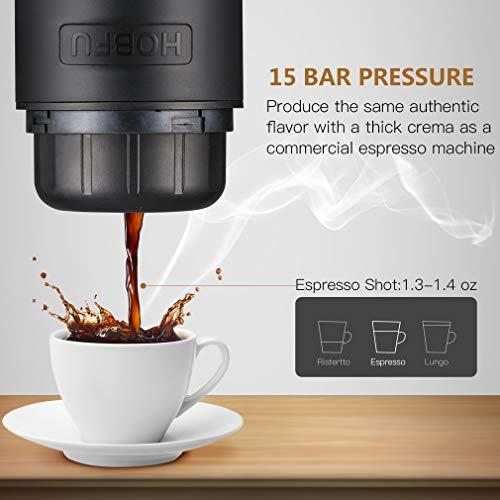 Belovedkai Portable Espresso Maker, Rechargeable 15 Bars Pressure Espresso Machine Small Travel Coffee Maker by Belovedkai (Image #2)