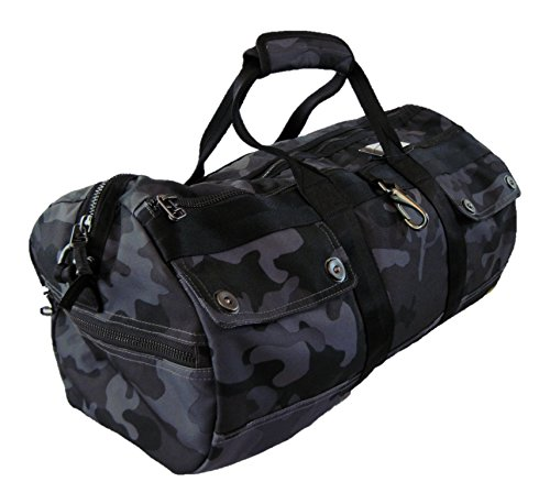 Ralph Lauren Men's Grey Camo Duffel Tote Bag by Polo Ralph Lauren