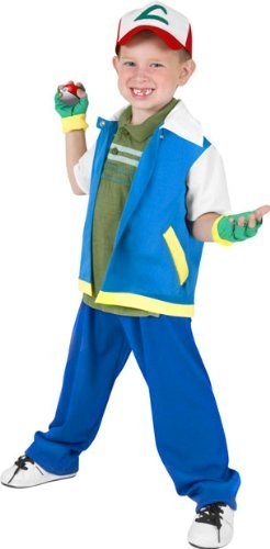Amazon.com: Child's Pokemon Ash Halloween Costume (Small 4-7) by ...