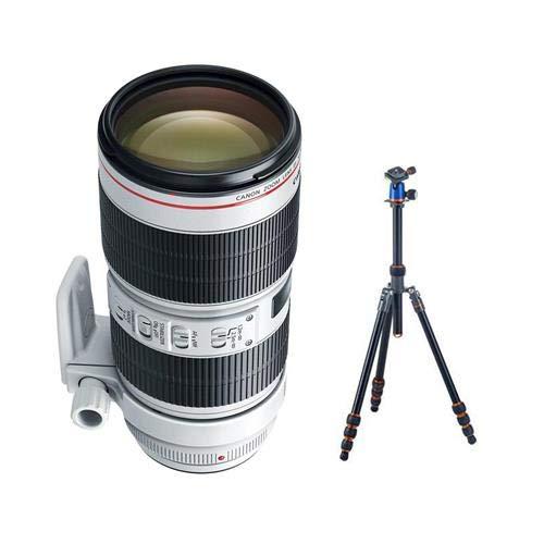 Canon EF 70-200mm f/2.8L is III USM AutoFocus Telephoto Zoom Lens USA - Bundle with 3 Legged Thing 3LT Punks! Travis Aluminum Travel Tripod with AirHed Neo Ballhead
