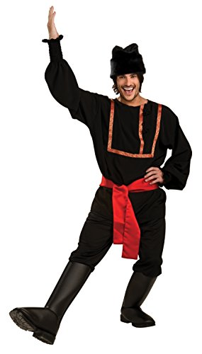 Rubie's Men's Black Russian Costume, As Shown, Standard