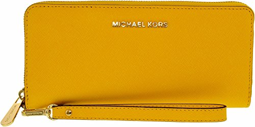 MICHAEL Michael Kors Women's Jet Set Continental Wallet, Sunflower, One Size by MICHAEL Michael Kors