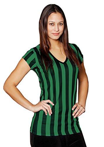 Mato & Hash Womens Referee Shirts | Comfortable V-Neck Ref Shirt for Waitresses, Refs, More! - 6PK Black/Green XL