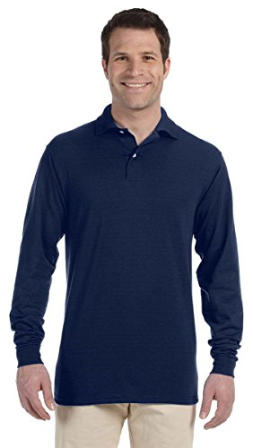 Jerzees 50/50 Men's 5.6 oz. Jersey Polo with Spotshield (J Navy, X-Large)