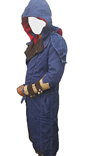 Assassin's Creed Unity Arno Dorian Denim Cloak Costume Jacket Blue ()
