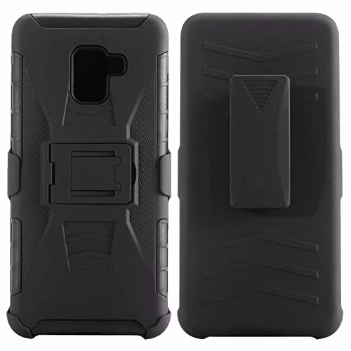 the latest f7662 ecbc2 Galaxy A8 2018 Case,Galaxy A5 2018 Case,Belt Clip Holster Dual Layer Hybrid  Shock Absorbing Resist Kickstand Armor Phone Case Cover for Samsung Galaxy  ...