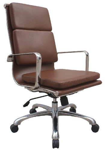 amazon com hendrix group high back chair in brown leather by