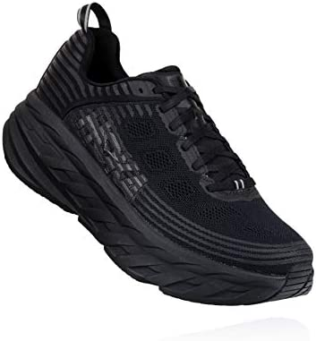 HOKA ONE ONE Mens Bondi 6 Black Black Running Shoe – 13