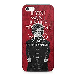 Loud Universe Game of Thrones Trion Lannister If You Want Justice You Came To The Wrong Place TV Show Printed Wrap Around iPhone SE Case - Pink