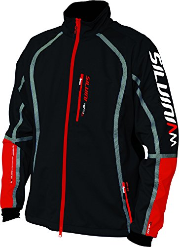 Jacket Bamboo Mens - SILVINI Softshell Jacket in Black Anteo Windproof & Water Resistant with Bamboo Liner for Cycling and All Other Outdoor Activities - Size XXXXL