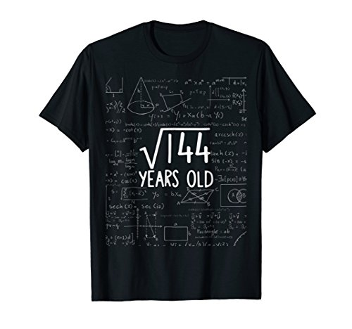 Twelve Years Old Shirt 12th Party 12 Twelfth Square Root 144 -