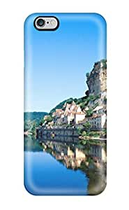 GFrHDdk13439aoUFi Tpu Phone Case With Fashionable Look For Iphone 6 Plus - Beautiful Reflection Blue Lake Old Buildings Reflections Nature Other