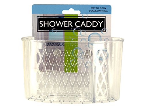 Bulk Buys Transparent Shower Caddy with Suction Cups - 24-PK