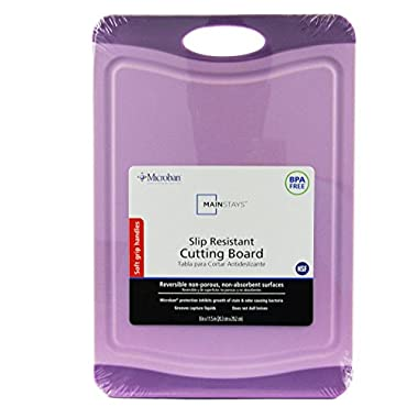 Microban Antimicrobial Cutting Board, Purple Berry, 11.5x8 Inches