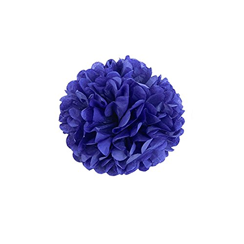 (X-Sunshine 10pcs DIY 10inch 12inch Tissue Paper Flower Decoration Baby Girl's Room Paper Pom Poms Crafts Flower For Party Wedding Christmas Birthday (10, Sapphire blue))