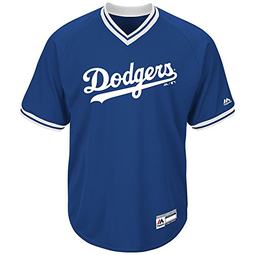 Los Angeles Dodgers MLB Adult Cool Base Short Sleeve V-Neck Jersey (Small)