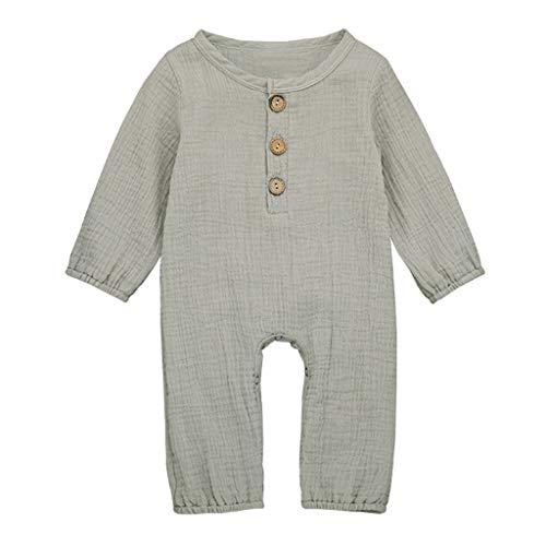 Premium Unisex Newborn Baby Jumpsuit 0-24 Months Super Comfort Cotton Linen Romper Infant Basic One-Piece Bodysuit Outfits
