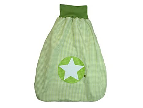 Saco de dormir Saco para bebé de 70 cm Cuadros Verde con nombre bordado verde Stoff: Karo Grün, Schrift: Dunkelbraun Talla:70 cm: Amazon.es: Bebé