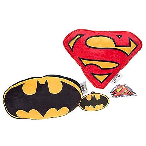 COJIN LOGO BATMAN Y SUPERMAN 22CM: Amazon.es: Bebé