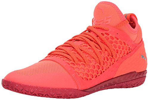 PUMA Mens 365 Ignite Netfit CT Soccer Shoe, Fiery Coral White-Toreador, 9.5 M US