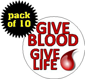 (Quantity 10) Give Blood - Give Life 1.2 - Donor Pin Shopping Results