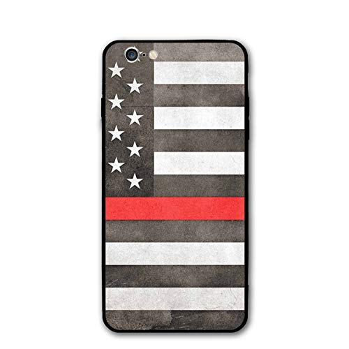 6S Case - Fireman Skull Thin Red Line Flag Case for iPhone 6S Horse Protective Flexible Cover Protector Compatible Replacement for iPhone -