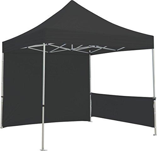 Exhibitor's Handbook TNT-3MX3M-FLL-WLL-BLK Zoom Popup Tent Full Wall Only, 10', Black by Exhibitor's Handbook