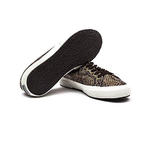 Superga 2750 Cotu Snake - Zapatillas de sintético para hombre marrón