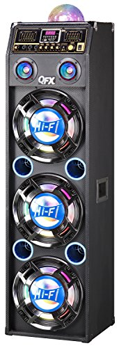 QFX SBX-410306BT-BLU Bluetooth Cabinet Speaker with Built-In Amplifier by QFX