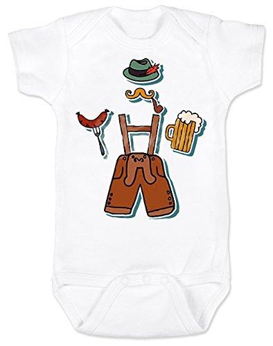 Vulgar Baby Bodysuit, Oktoberfest Lederhosen, 12-18 MO, -