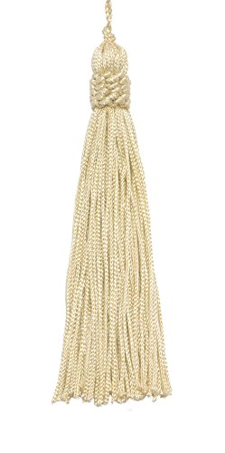 - DÉCOPRO Set of 10 Cream Color Crown Head Chainette Tassel, 5.5 Inch Long with 1 Inch Loop, Basic Trim Collection Style# CT055 Color: Cream/Ivory - A2