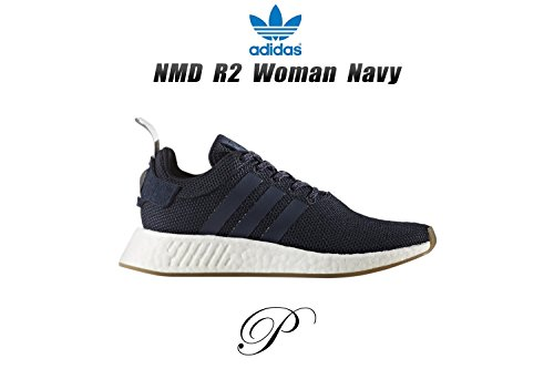 adidas Women's NMD_r2 W Trainers, White Blue (Tinley/Azutra/Gridos)