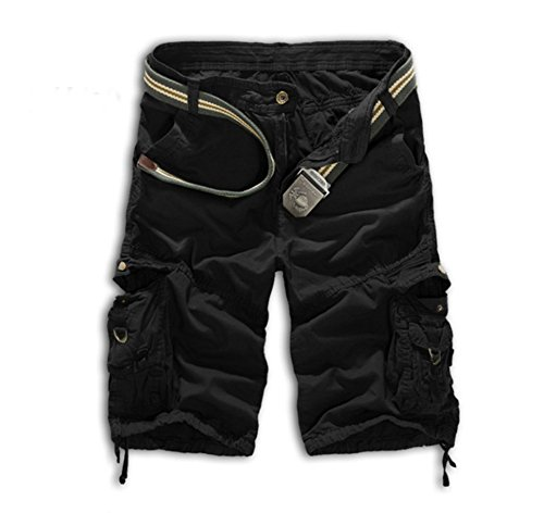 Cargo Shorts Solid Outdoor Summer Casual Shorts Black 32 (Of Shorts Men And Mice)