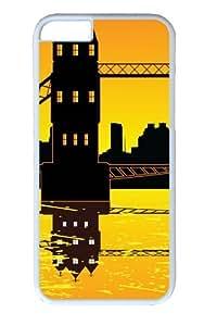 Bridge Over Water21 Custom iphone 6 plus 5.5 inch Case Cover Polycarbonate White