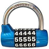 BaouRouge 5-Digits Resettable Combination padlock 65mm (BLUE) by BaouRouge