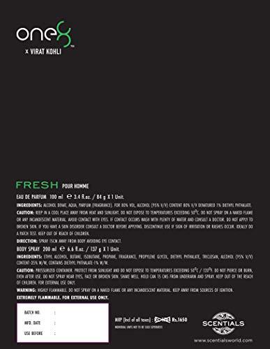 One 8 by Virat Kohli FRESH 2 Pc Fragrance Gift Set For Men