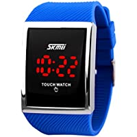 Kids Touch Screen Outdoor Blue Sports Watch with LED, Digital for Boys Girls, Above 10 Years Old