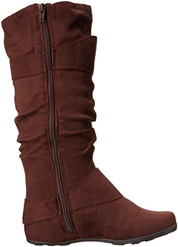 Brinley Co Womens Hilton-wc Boot Slouch Marrone