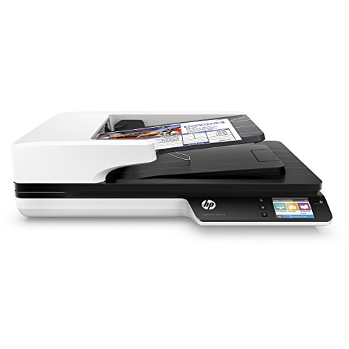 HP ScanJet Pro 4500 fn1 Network OCR Scanner (Renewed) (Hp Scanjet Mobile Scanner)