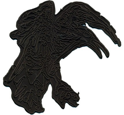 VIKING Crow Season Series Costume Flag Death Metal Biker Iron on Patch Badge