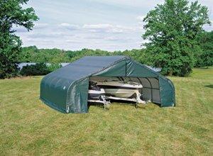 ShelterLogic Peak Style 22' x 20' x 10' Shelter in Green