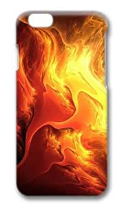 MOKSHOP Adorable fiery colors Hard Case Protective Shell Cell Phone Cover For Apple Iphone 6 Plus (5.5 Inch) - PC 3D