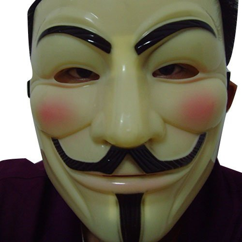 Beige V for Vendetta Mask For Costume Party Halloween Carnival -