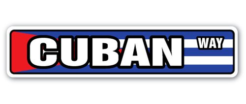[SignJoker] CUBAN FLAG Street Sign cuba national nation pride country gift Wall Plaque Decoration]()