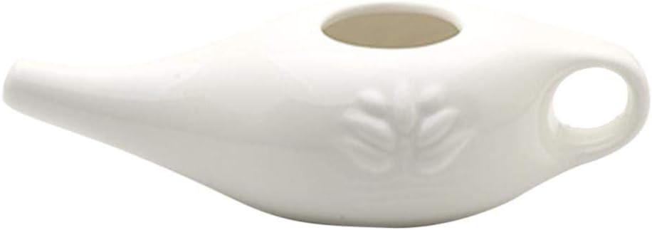 Niumen Nasensp/ülk/ännchen mit Griff Nasensp/ülung aus Keramik Little Teekannen mit lang Ausgie/ßern Nasendusche Nasensp/ülung