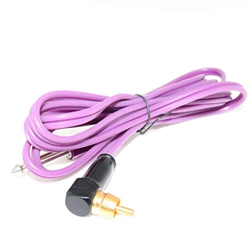 (Tattoo Hook Line Super Soft Copper Core Silicone Hook Wire Stainless Steel Metal Head RCA (Color :)